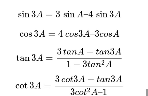 All Trigonometry Formulas For Class 10, 11, 12 (PDF) 11